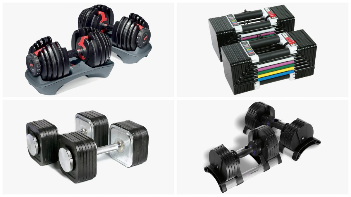 Cover photo for the best adjustable dumbbells buying guide