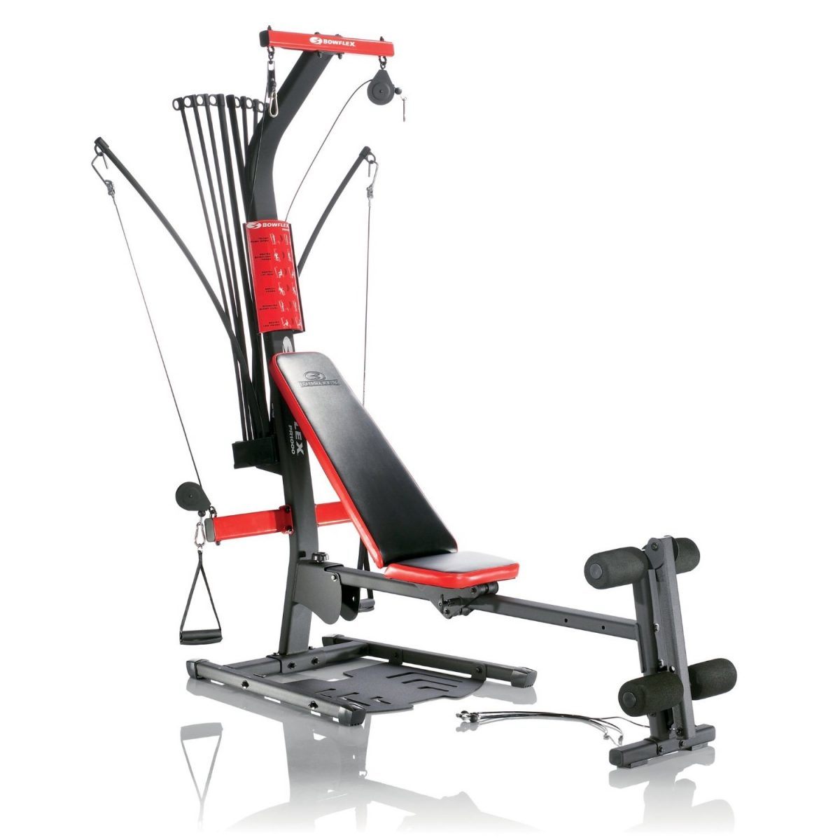 Product image of a new red and black Bowflex PR1000 home gym
