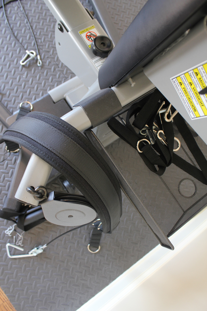Image showing all of the Bowflex Blaze accessories sitting inside the basket