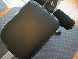 Image of the seated part of the bench on the Bowflex Blaze