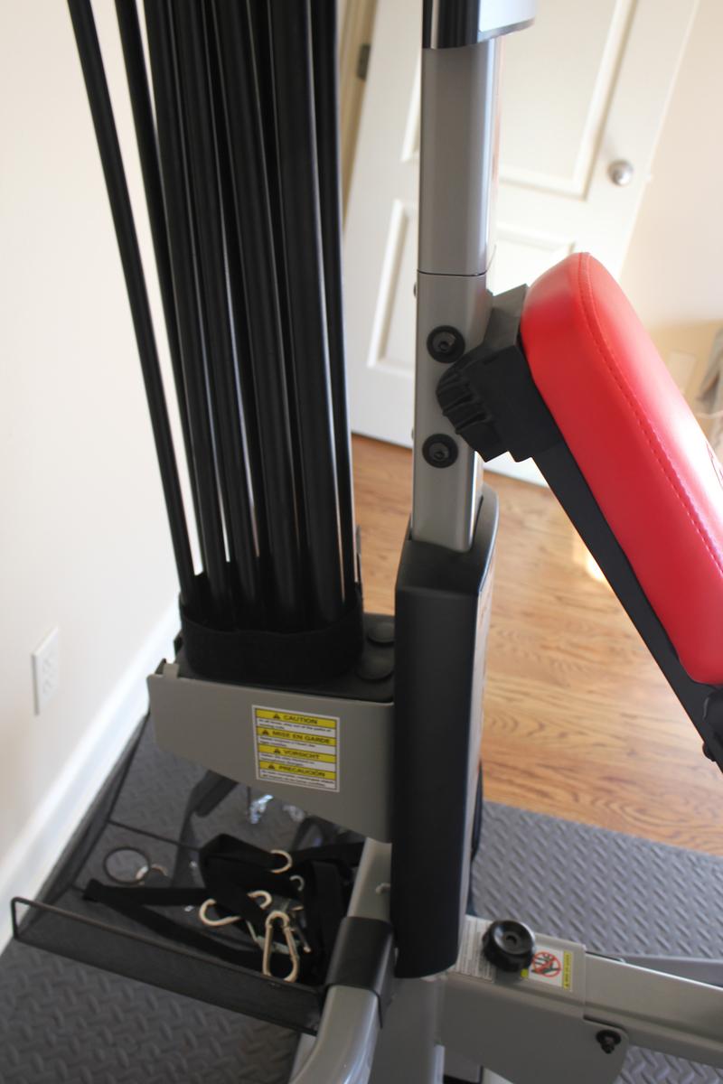Image showing the Bowflex Blaze Power Rod setup