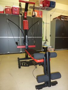 Image of the Bowflex PR1000 from the sideways view