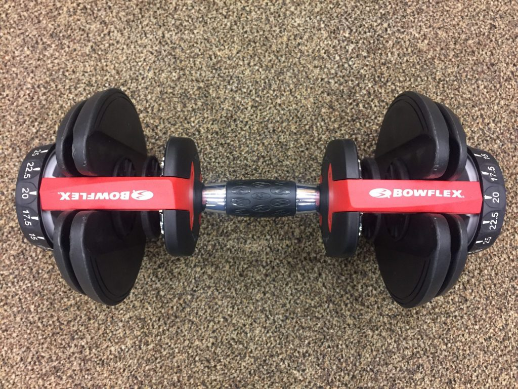 Image showing the Bowflex SelectTech 552 at a 20 lb weight setting