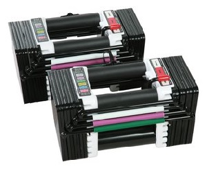 Preview image of a new pair of PowerBlock Elite adjustable dumbbells