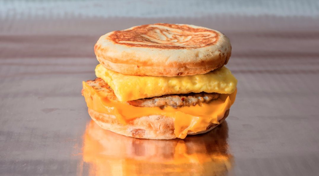 Image of a low carb fast food breakfast sandwich