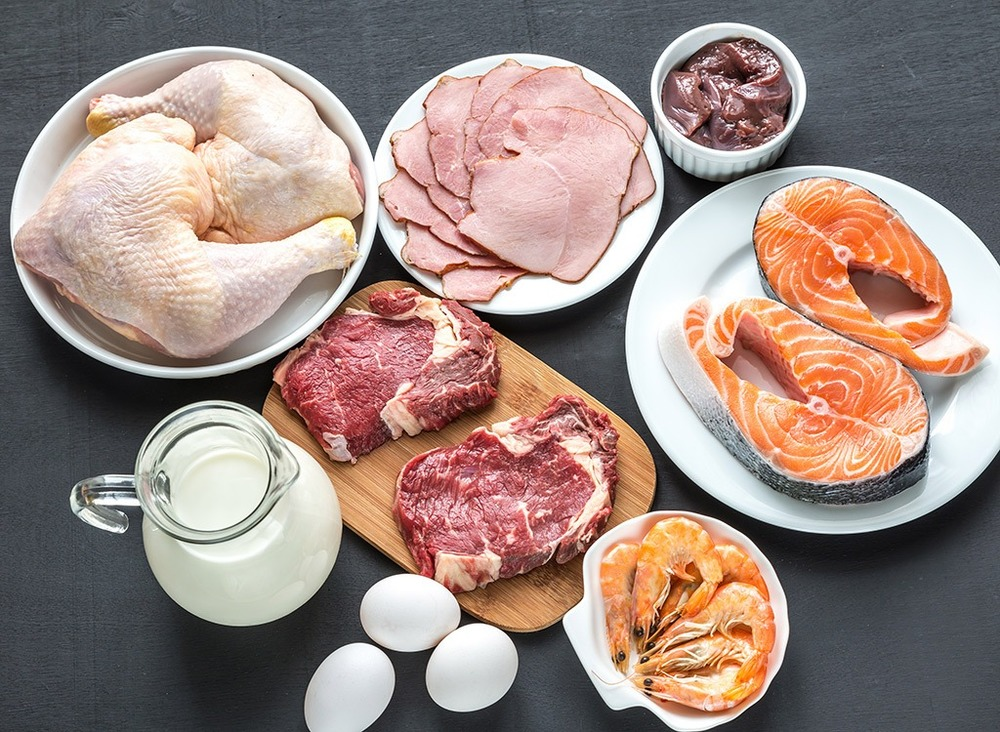 Image showing a group of meats and other protein sources