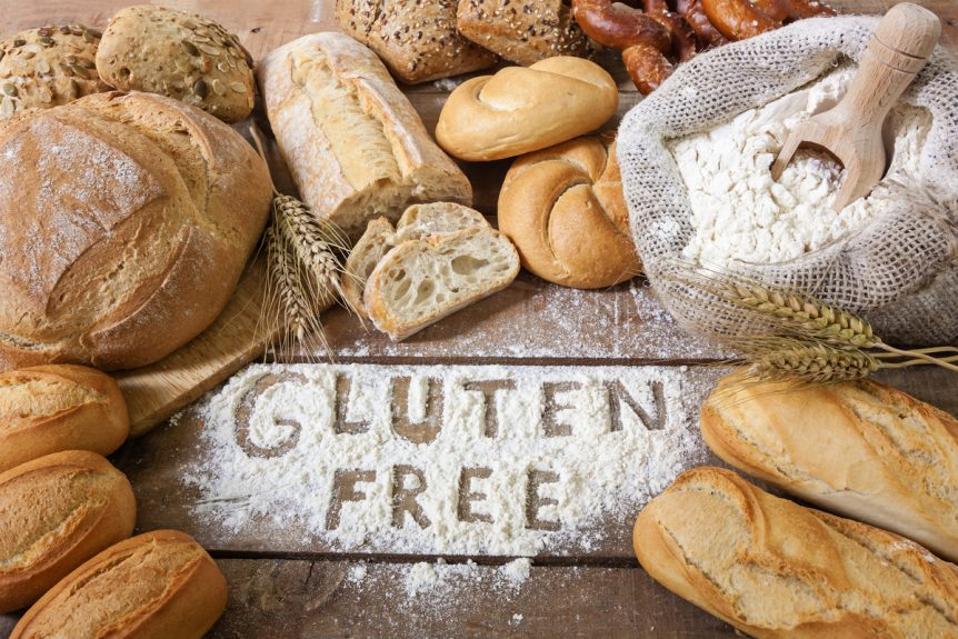Image of a baking table with gluten free breads