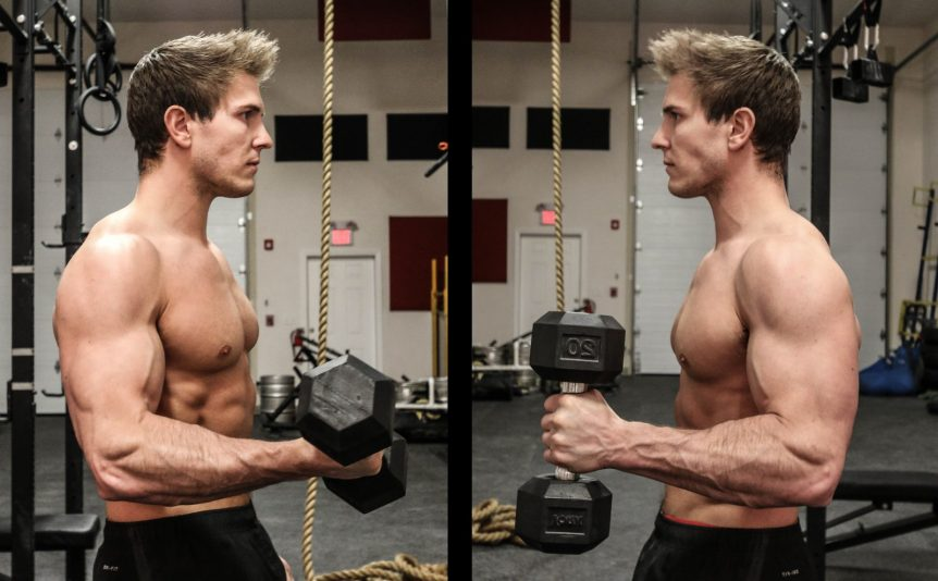 Build Bigger Bicep Peak With Dumbbell Hammer Curls On The Preacher ...