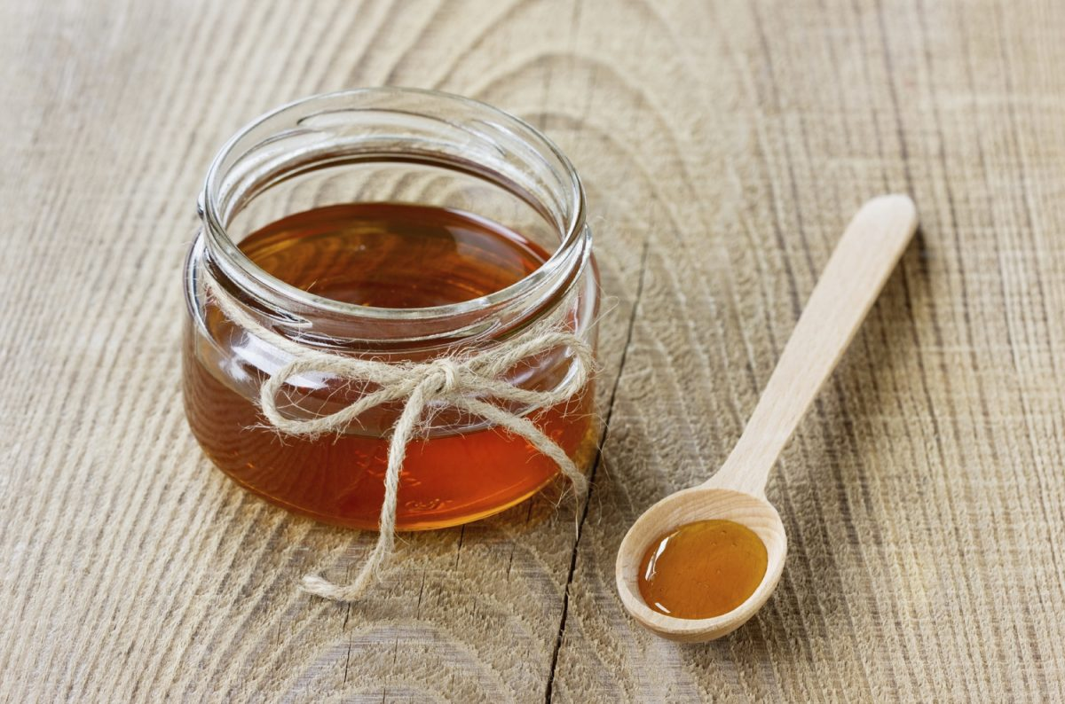 Image showing honey in a jar