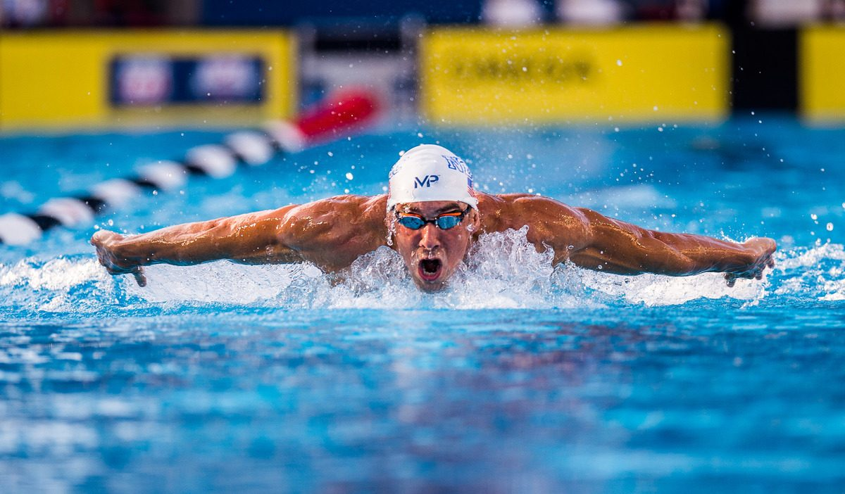 Image of Michael Phelps swimming