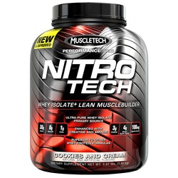 Image of a tub of MuscleTech Nitro-Tech protein powder