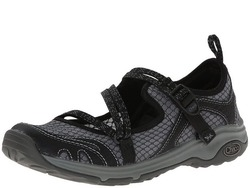Image of a black and grey Chaco Women's Outcross EVO MJ shoe