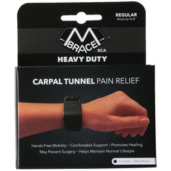 Image of the product box for the M-Brace RCA carpal tunnel brace