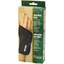 Image of a product box containing the Mueller Fitted Wrist Brace