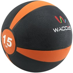 Image of an orange 15lb Wacces Medicine Ball