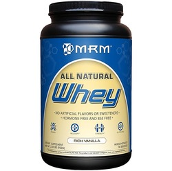 Image of a bottle of MRM All Natural Whey protein