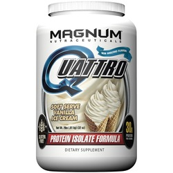 Image of a bottle of Magnum Nutraceuticals Quattro protein powder