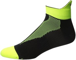 Image of a black and yellow Nike Elite DRI-FIT Running Sock