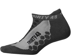 Image of a black and grey Thirty48 CoolMax Running Sock