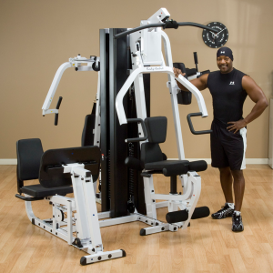 Image of a man demonstrating the Body-Solid EXM3000LPS
