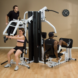 Image of 3 athletes demonstrating how the Body-Solid EXM3000LPS works