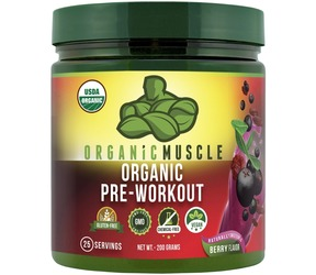 Product image of a container of Organic Muscle Organic Pre-Workout