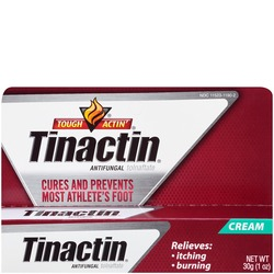 Product image of a box of Tinactin antifungal cream