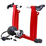 Image of the 8 Levels Magnetic Resistance Indoor Bike Trainer,Fits 26-28 inch 700c Bicycle Exercise Trainer Stand w Front Wheel Block and Quick Release Skewer