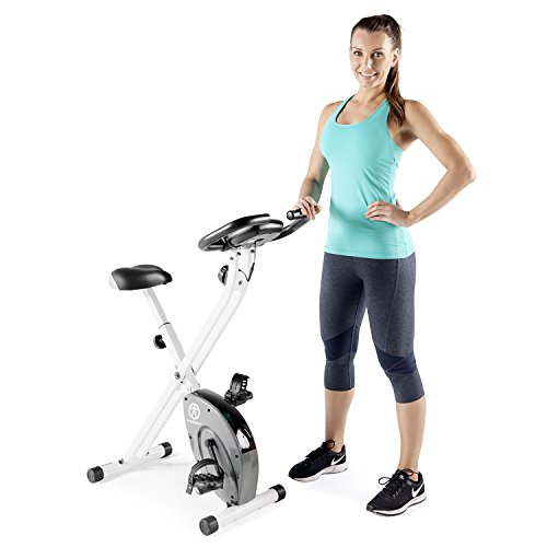 Image of the Marcy Foldable Exercise Bike with Adjustable Resistance for Cardio Workout and Strength Training NS-652