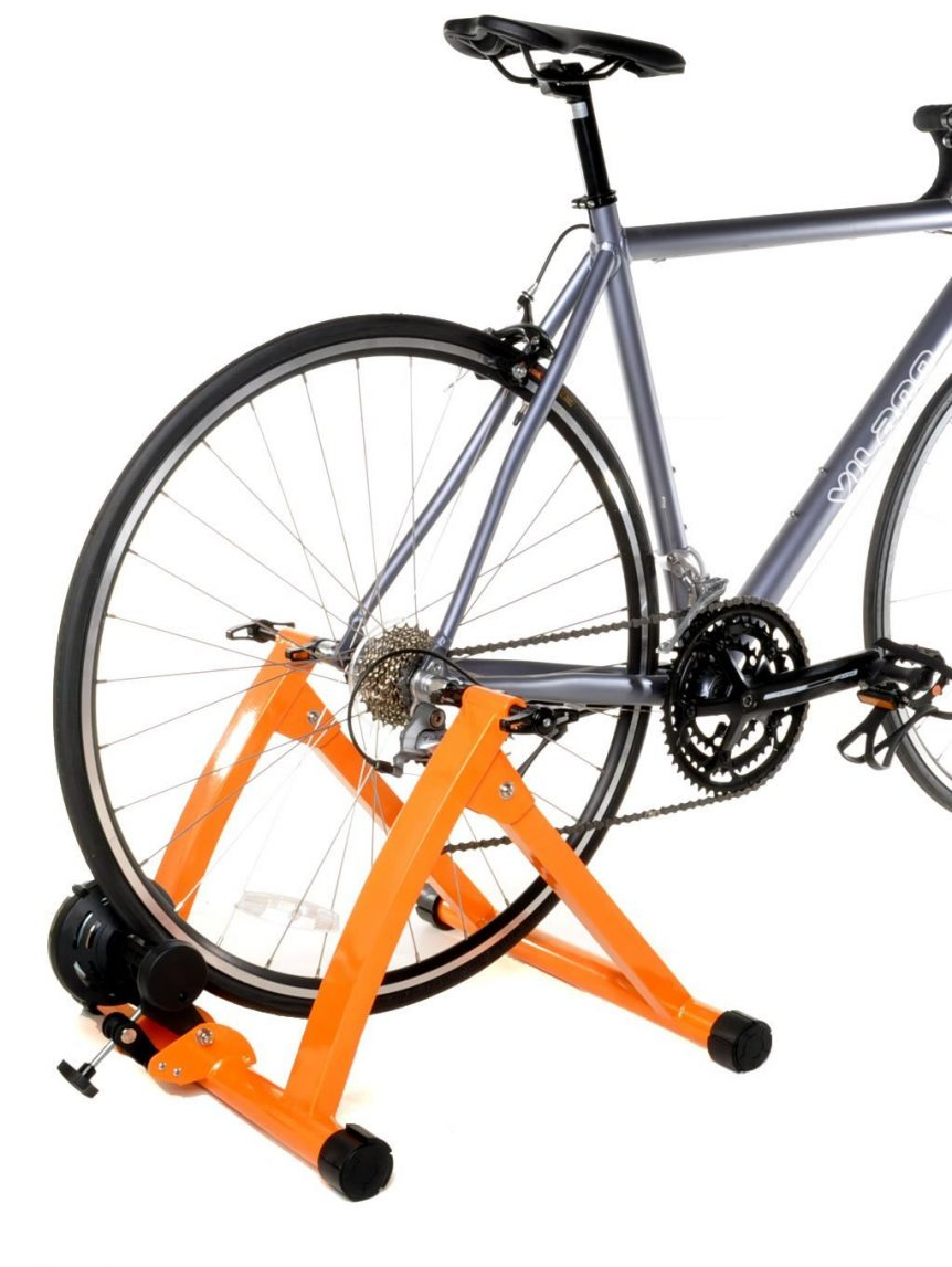 turbo trainer with bicycle