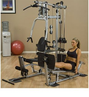 Image of the Powerline Home Gym with Leg Press, Grey/Black