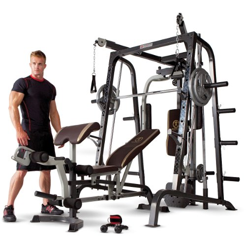 Image of the Marcy Smith Cage Workout Machine Total Body Training Home Gym System with Linear Bearing MD-9010G