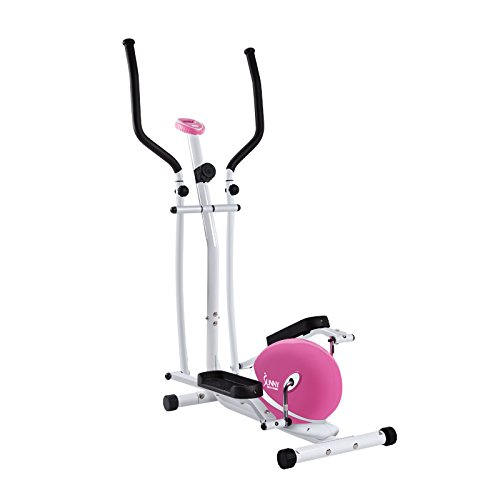 Image of the Sunny Health and Fitness Pink Magnetic Elliptical Trainer