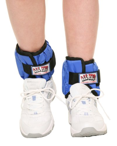 Image of the All Pro Weight Adjustable Ankle Weights, 10-lb pair (up to 5-lbs per ankle)