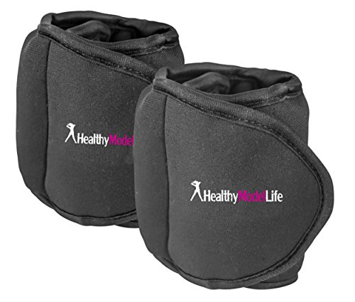 Image of the Ankle Weights Set by Healthy Model Life (2x5lbs Cuffs) - 10lb in total - As Worn By Victoria Secret Angels - Used In Top Gyms in New York