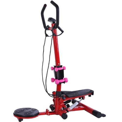 Image of the Soozier Aerobic Waist Twister/Stepper Fitness Machine w/ Dumbbells
