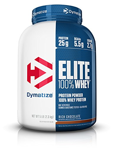 Image of the Dymatize Elite 100% Whey 5lb (2.3kg) Rich Chocolate