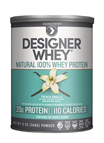 Image of the Designer Whey Premium Natural 100% Whey Protein, French Vanilla, 12 Ounce