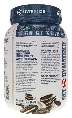 Image of the Dymatize ISO-100 Cookies & Cream -- 1.6 lbs