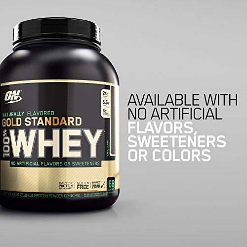 Image of the Optimum Nutrition Gold Standard 100% Whey Protein Powder, Naturally Flavored Strawberry, 4.8 Pound