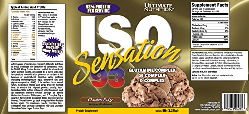 Image of the Ultimate Nutrition ISO Sensation 93 Chocolate Fudge 5 Lb Tub