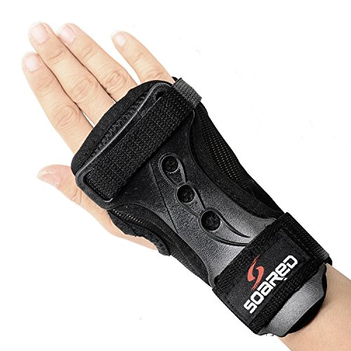Image of the Soared Skating Skateboard Skiing Snowboard Impact Wrist Guard Protective Gear Gloves XL