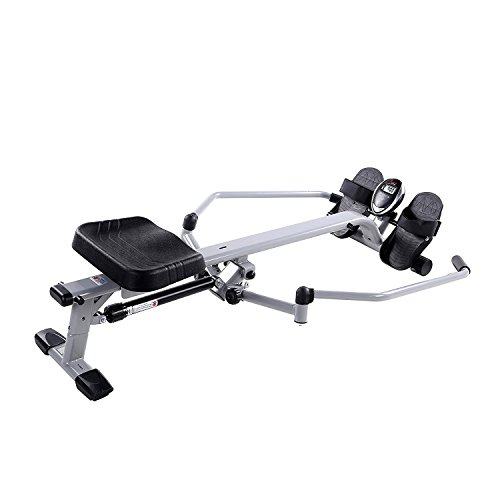 Image of the Sunny Health & Fitness SF-RW5639 Full Motion Rowing Machine Rower w/ 350 lb Weight Capacity and LCD Monitor