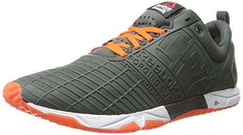 Image of the Reebok Men's Crossfit Sprint TR Training Shoe, Dark Sage/Flux Orange/White, 8 M US