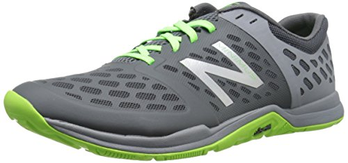Image of the New Balance Men's MX20BS4 Cross Minimus Training Shoe, Grey/Green, 12.5 D US