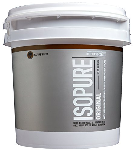 Image of the Isopure Original Protein Powder, 100% Whey Protein Isolate, Flavor: Dutch Chocolate, 8.8 Pounds (Packaging May Vary)