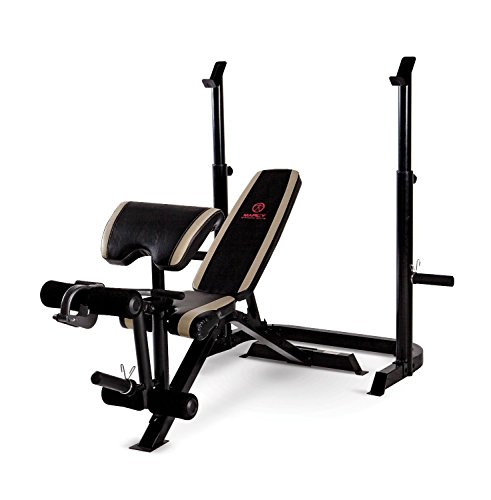 Image of the Marcy Adjustable Olympic Weight Bench with Leg Developer and Squat Rack MD-879