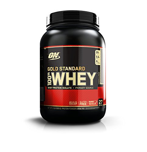 Image of the Optimum Nutrition Gold Standard 100% Whey Protein Powder, Cookies and Cream, 2 Pound