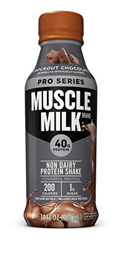 Image of the Muscle Milk Pro Series Protein Shake, Knockout Chocolate, 40g Protein, 14 FL OZ, 12 count