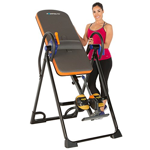 Image of the Exerpeutic 975SL All Inclusive Extra Capacity Inversion Table with Air Soft Ankle Cushions, Surelock and iControl Systems